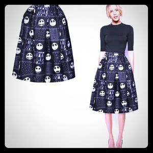 Jack Skellington Skirt Size L